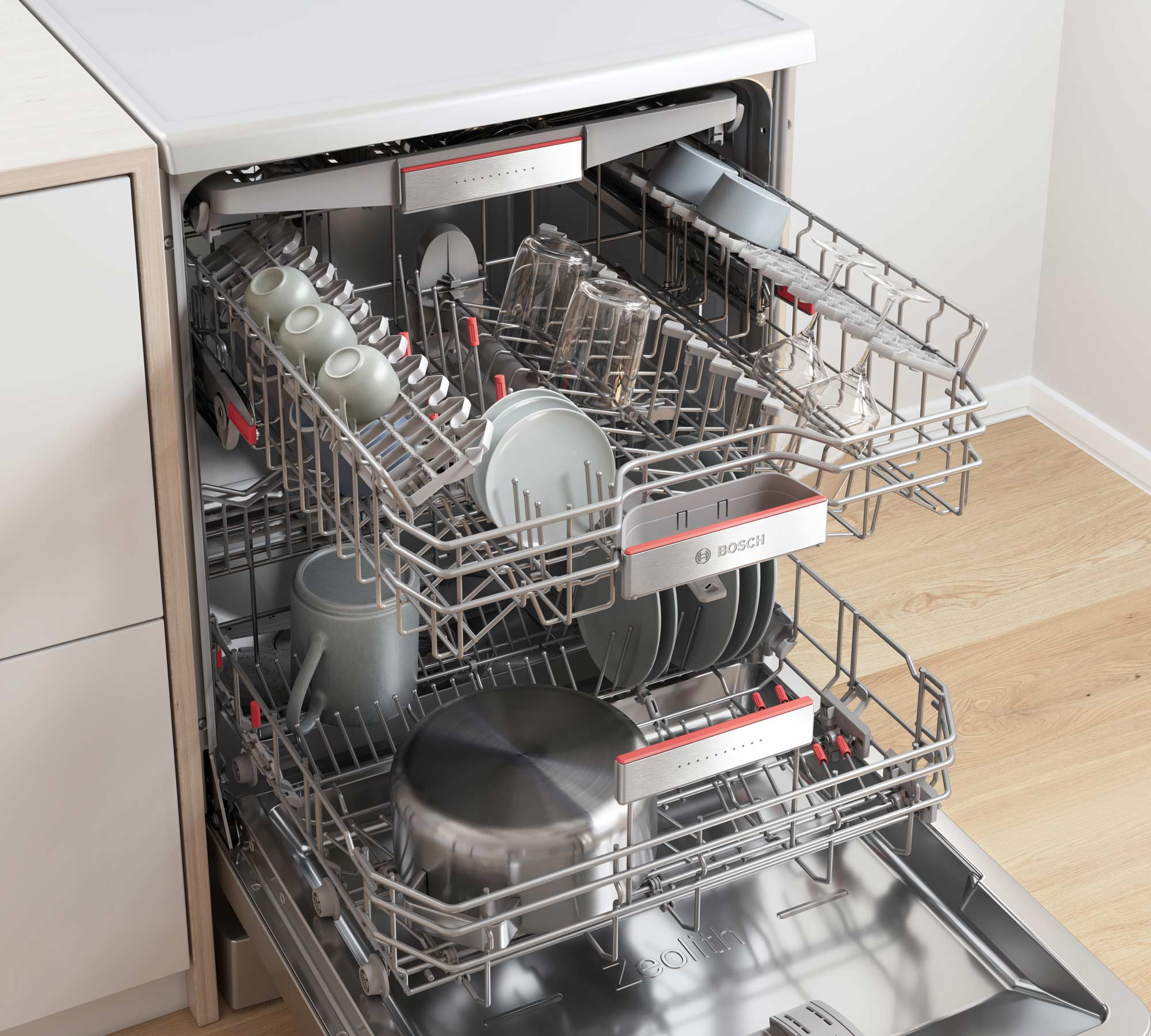 CGI - Bosch - Home Appliances - Freestanding Dishwasher - Close up