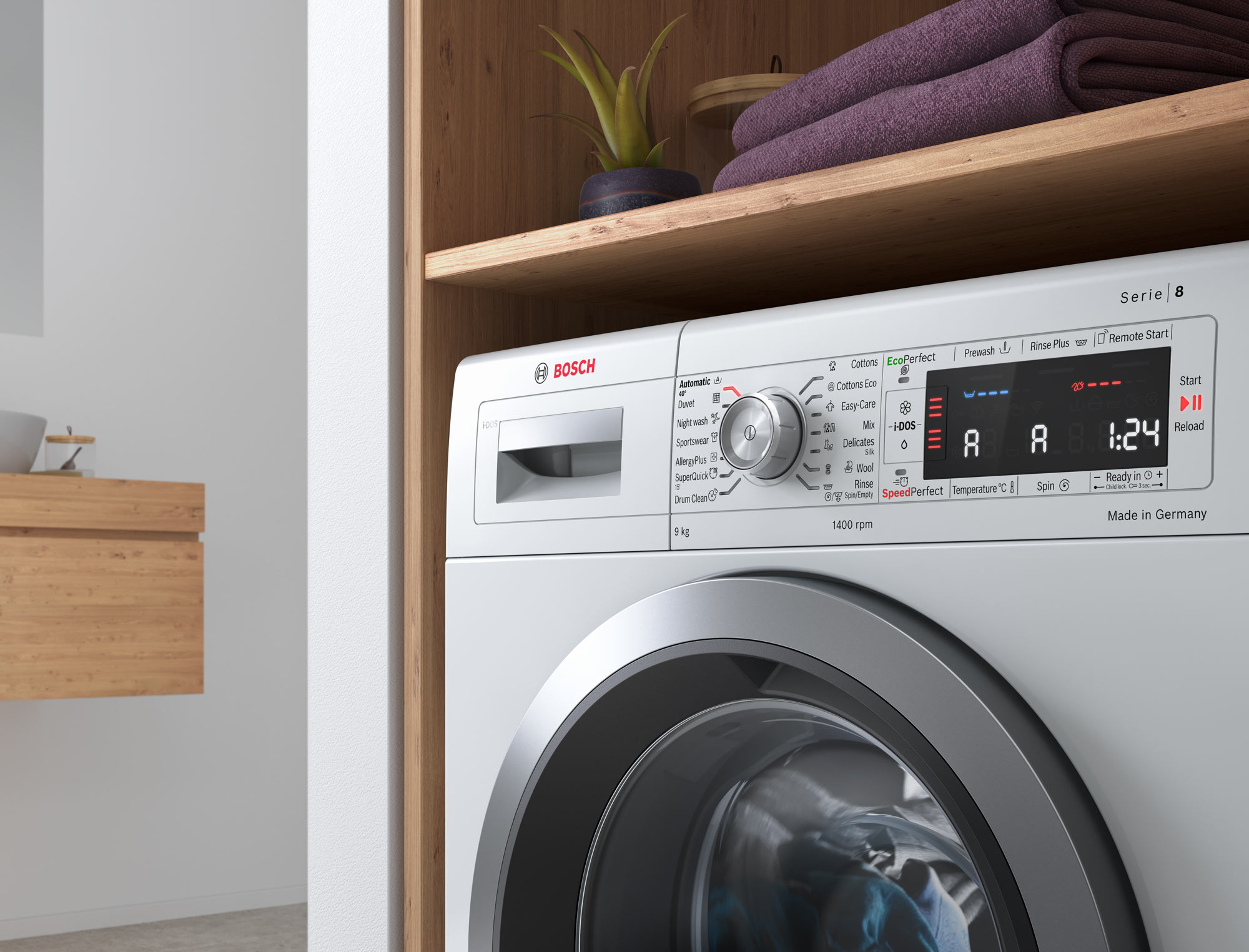 CGI - Bosch - Home Appliances - Washer - Close up