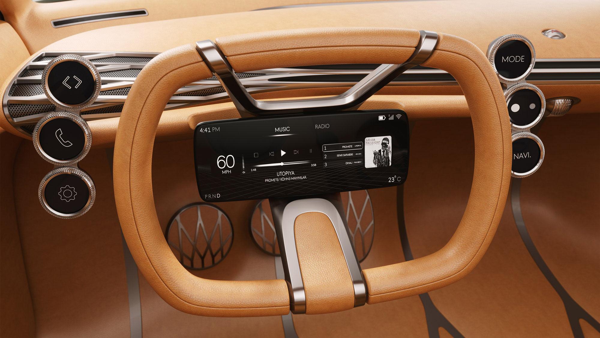 3D - Mint Concept - steering wheel